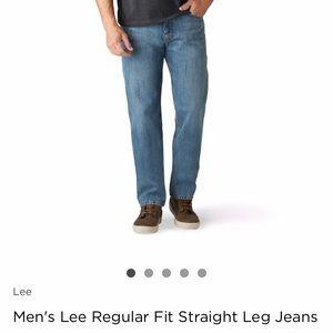 Lee Jeans Regular Fit Straight Leg 34x32 NWT